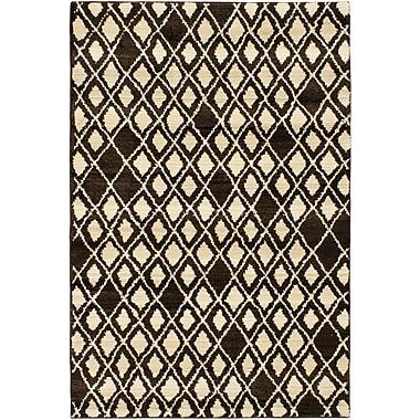 ECARPETGALLERY Atlas Marrakech Open Field Cream/Dark Brown Area Rug; 5'3'' x 7'6''