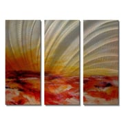All My Walls 'Blazing Meadow' by Olivia O'Keeffe 3 Piece Painting Print Plaque Set