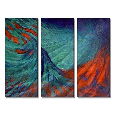 All My Walls 'Dynamic Scape' by Olivia O'Keeffe 3 Piece Painting Print Plaque Set