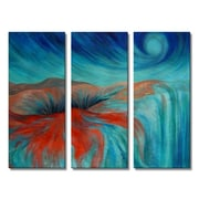 All My Walls 'Energizer' by Olivia O'Keeffe 3 Piece Painting Print Plaque Set by