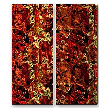 All My Walls 'Aerial View of Fall' by Darlene Navor 2 Piece Graphic Art Plaque Set