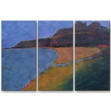 All My Walls 'Bay' by Janet Dyer 3 Piece Painting Print Plaque Set