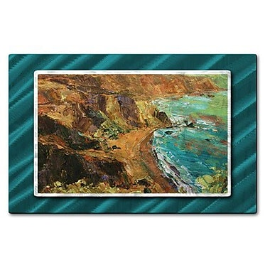 All My Walls 'California Coast III' by Brian Simons Painting Print Plaque