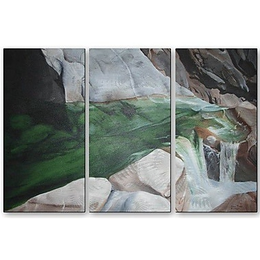 All My Walls 'Water' by Glen Frear 3 Piece Painting Print Plaque Set
