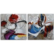 Omax Decor Open Spectrum' 2 Piece Painting on Canvas Set