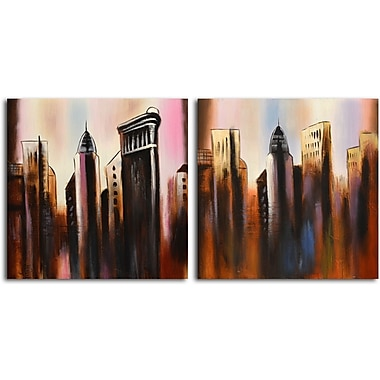 Omax Decor Work in Progress' 2 Piece Painting on Canvas Set