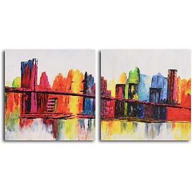 Omax Decor Psychedelic City' 2 Piece Painting on Canvas Set