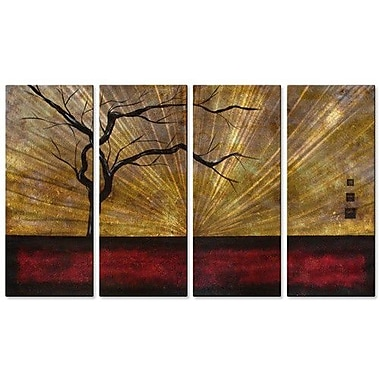 All My Walls 'Under the Surface' by Stacy Hollinger 4 Piece Painting Print Plaque Set