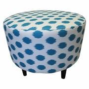 Sole Designs Sophia Jojo Round Ottoman; Jojo Aquarius