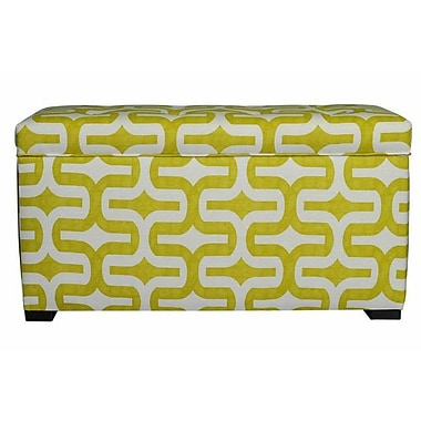 Sole Designs Angela Storage Bedroom Bench; Embrace Artist Green