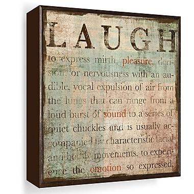 PTM Images Laugh Gicl e Framed Textual Art