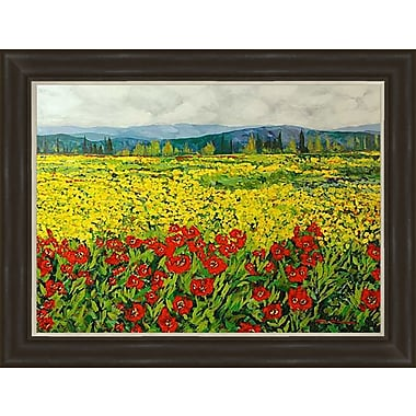 PTM Images Field of Florals Framed Painting Print