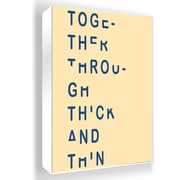 PTM Images Chopped Letters Framed Textual Art