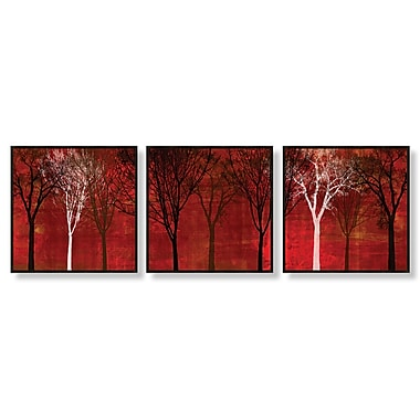 PTM Images Trees 3 Piece Framed Painting Print Set
