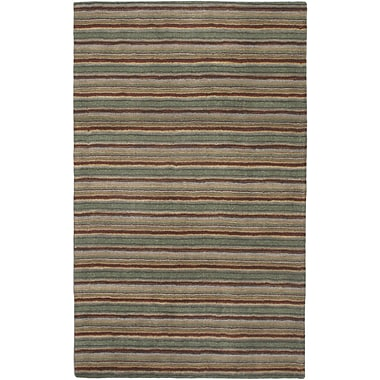 ECARPETGALLERY Forest Green Chic Striped Area Rug