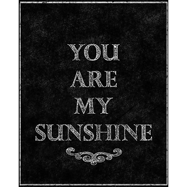 PTM Images You Are My Sunshine Textual Art on Wrapped Canvas; 20'' H x 16'' W x 1.5'' D
