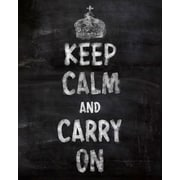 PTM Images Keep Calm and Carry On Textual Art on Wrapped Canvas