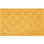 Bungalow Flooring Aqua Shield Medallion Doormat; Yellow