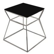 Pangea Home Prism End Table; Black