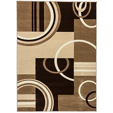 Well Woven Ruby Galaxy Waves Contemporary Area Rug; 7'10'' x 9'10''