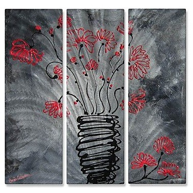 All My Walls 'Intertwined' by Lisa Adame 3 Piece Painting Print Plaque Set