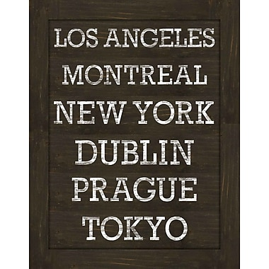 PTM Images World Cities Gicl e Framed Textual Art