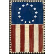 PTM Images American Flag Inverse Framed Graphic Art