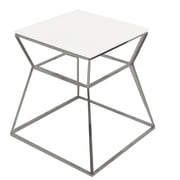 Pangea Home Prism End Table; White
