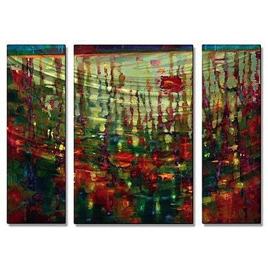 All My Walls 'Whisper of Summer' by Donna Young 3 Piece Painting Print Plaque Set
