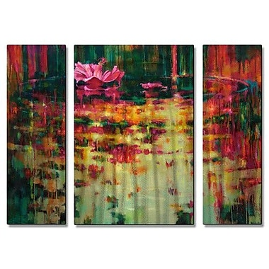 All My Walls 'Passion' by Donna Young 3 Piece Painting Print Plaque Set