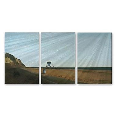 All My Walls 'Beach 2' by Relja Penezic 3 Piece Graphic Art Plaque Set