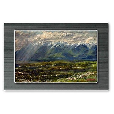 All My Walls 'Rain on the Valley Floor' by James Corwin Painting Print Plaque