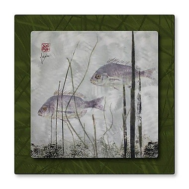 All My Walls 'Fish in the Seaweed' by Jack Schwartz Graphic Art Plaque