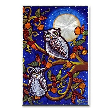 All My Walls 'Moonlight Owls' by Renie Britenbucher Painting Print Plaque