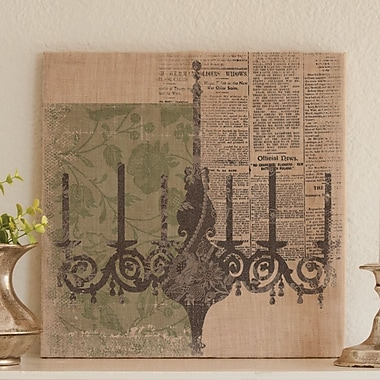 Heritage Lace Silhouettes Chandelier Graphic Art