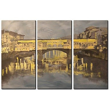 All My Walls 'Pont Vecchio' by Keith Wilke 3 Piece Painting Print Plaque Set