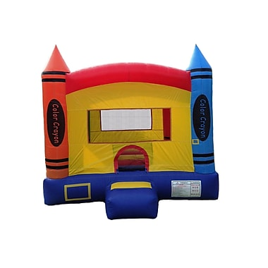 JumpOrange DuraLite Crayon Party Bounce House
