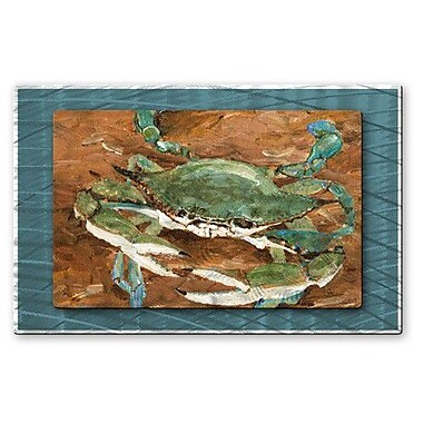 All My Walls 'Crab Season' by Keith Wilke Painting Print Plaque