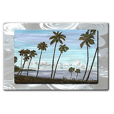 All My Walls 'Cozumel Palms' by Keith Wilke Painting Print Plaque