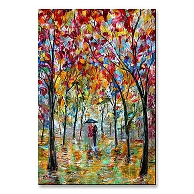 All My Walls 'Colorful Romance' by Karen Tarlton Painting Print Plaque