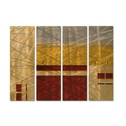 All My Walls 'Tender Display' by Francine Bradette 4 Piece Painting Print Plaque Set