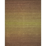 InnerSpace Luxury Products Artistry Beige/Green Center Line Stripe Rug; 8' x 10'