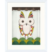 PTM Images Colorful Owls II Gicl e Framed Graphic Art