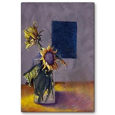 All My Walls 'Luminous Sunflowers' by Ellen Dreibelbis Painting Print Plaque