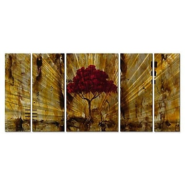 All My Walls 'Inner Light' by Stacy Hollinger 5 Piece Painting Print Plaque Set