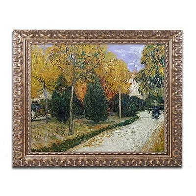 "Trademark Global van Gogh 'Path in the Park at Arles 1888' 16"" x 20"" Ornate Framed Art (BL0105-G1620F)"