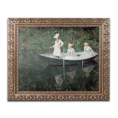 Trademark Global Claude Monet 'The Boat at Giverny' Ornate Framed Art 16