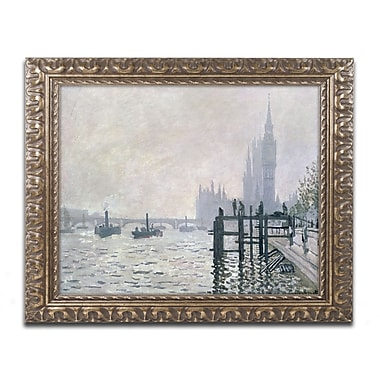 Trademark Global Claude Monet 'The Thames Below Westminster' Ornate Art, 16