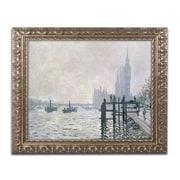 "Trademark Global Claude Monet 'The Thames Below Westminster' Ornate Art, 16""L x 20""W, Framed (BL01184-G1620F)"