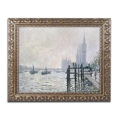 Trademark Global Claude Monet 'The Thames Below Westminster' Ornate Art, 16